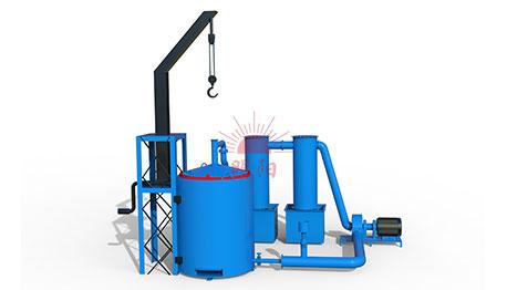 Vertical Hoist Carbonization Furnace